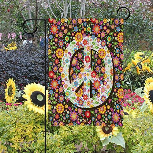 ALAZA Hippie Sign Polyester 40 inch, Two Welcome Decoration for Home Decor