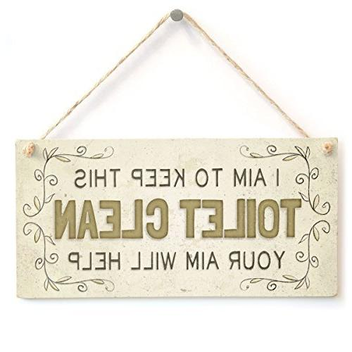home decor plaque sign i
