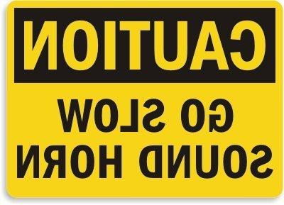 home decor sign safety caution