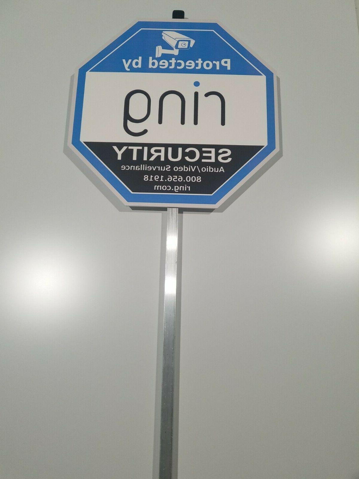 Home Ring security yard sign 6 with Aluminum Pole