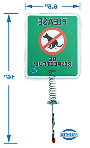 Premium Poop Signs for Stops no on Lawn Dog Sign, Pets or Peeing The Lawn