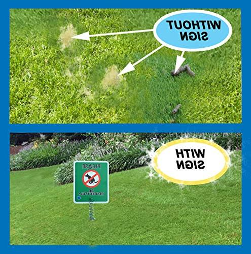 Premium - Signs for Yard Stops Dogs Pooping, no Poo, Lawn Signs Spring Dog Sign, Pets Pooping The Lawn Yard