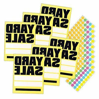 large yard sale signs with 400 sticker