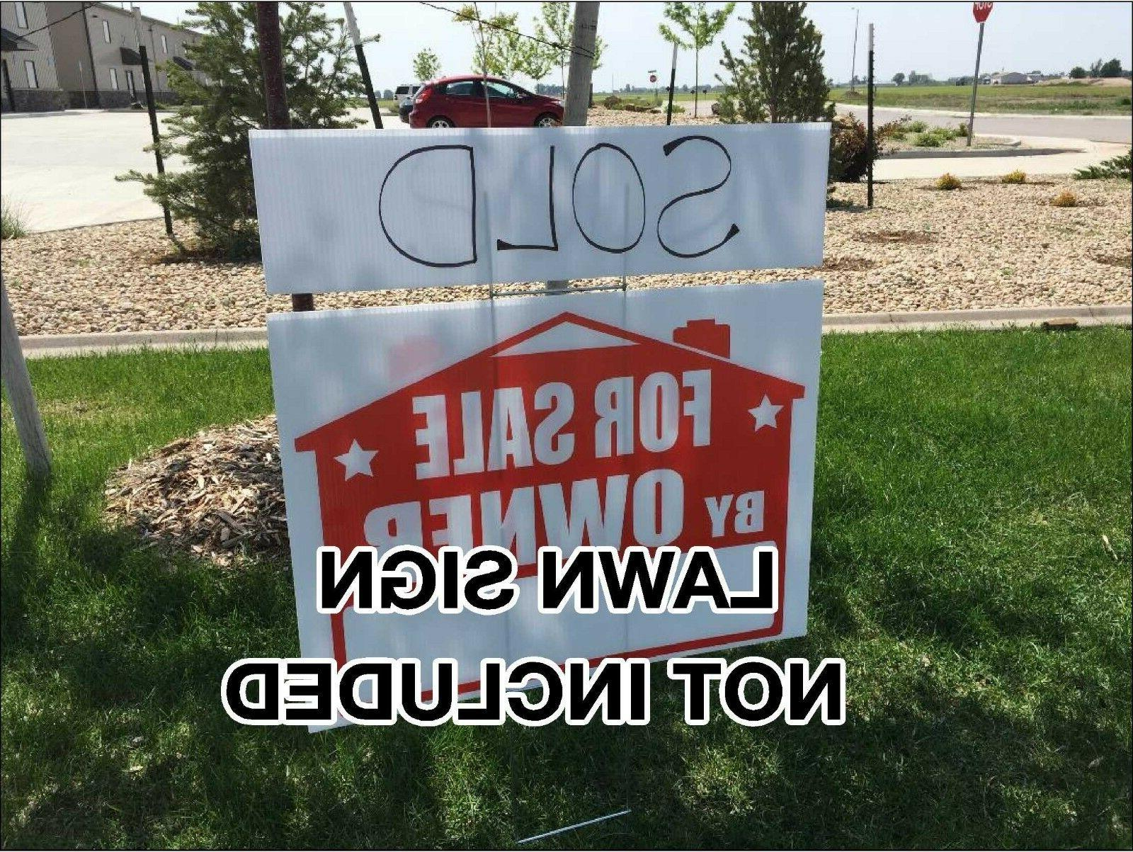 2019 Custom Corflute Pp Coroplast Blank Yard Signs 18x24 With H Stakes Find Complete Details About