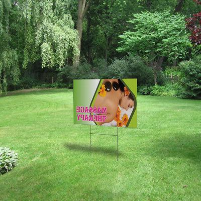 Massage Therapy Outdoor Lawn Decoration Corrugated Plastic Yard Sign