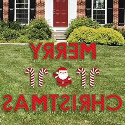 Big Dot of Happiness Merry Christmas - Yard Sign Outdoor Law