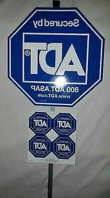 NEW  ADT SECURITY YARD SIGN AND 4 FREE  STICKERS WATERPROOF