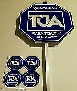 NEW ADT SECURITY YARD SIGN WITH 4 FREE STICKERS  WATERPROOF