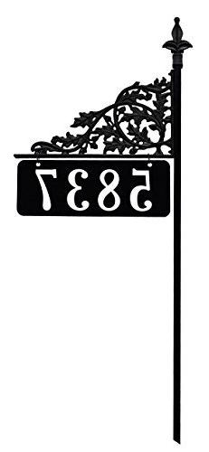 "Address America 48"" Oak Reflective 911 Home Address Sign for"