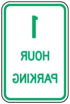 One Hour Parking Sign Funny Yard Decorative Signs for Outdoo