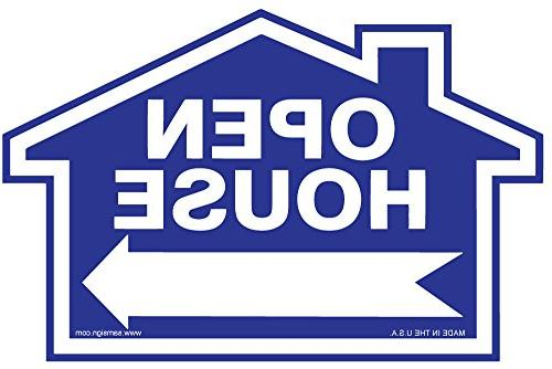 "3-Pack Open Sign Kit - Signs & - Blue X X 18"" Shaped Directional Arrows – Signs – Tearproof"