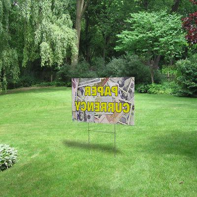 Paper Currency Outdoor Decoration Corrugated Sign