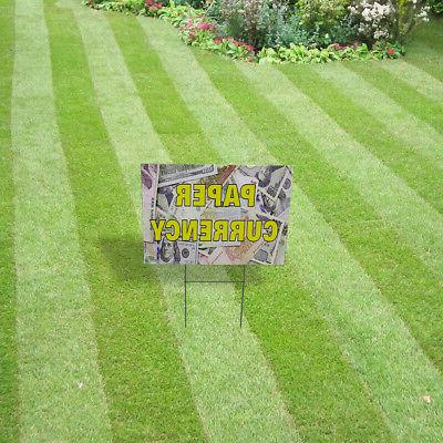 Paper Lawn Decoration Corrugated Yard Sign