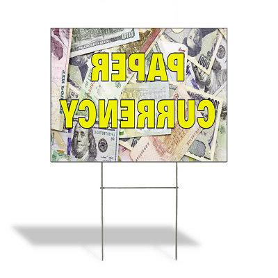paper currency outdoor lawn decoration corrugated plastic