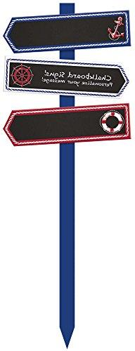 Amscan 190579 Nautical Chalkboard Yd Stake, Multi