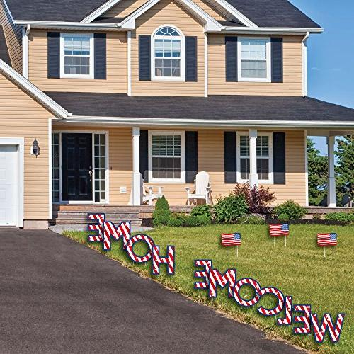 Big of Patriotic Welcome Home Yard Decorations - Yard