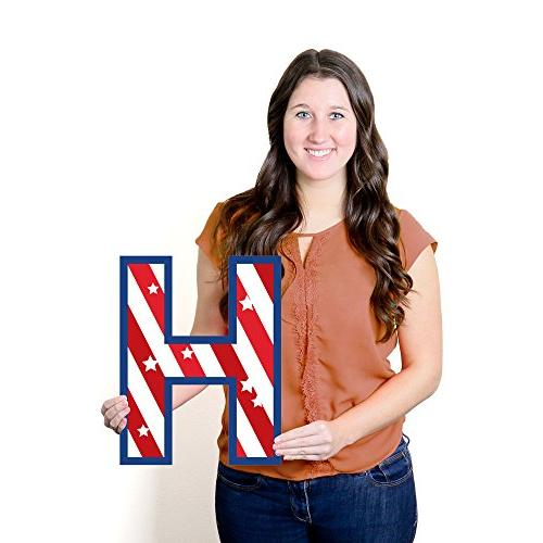 Big Patriotic Welcome Yard Sign Outdoor Decorations - Homecoming Yard Signs