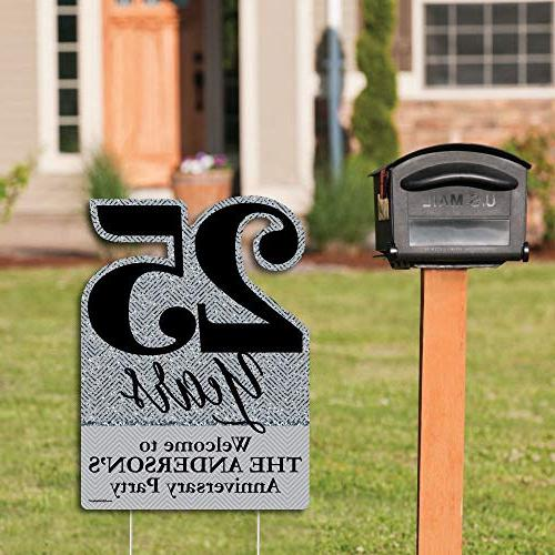 Big Personalized We - Wedding - Party Decorations - Custom Anniversary Yard Sign