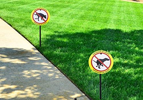 Plastic Yard Stakes| From Doing Business Lawn | Be Respectful