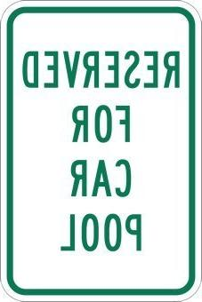 Reserved For Car Pool Parking Signs Funny Yard Decorative Si
