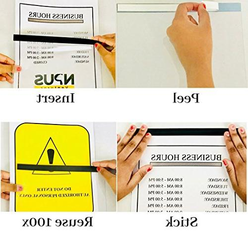 NPUS with Dry Erase Marker : 8.5'' 11'' x 8.5'' – Excellent for Posting Signs, Pictures