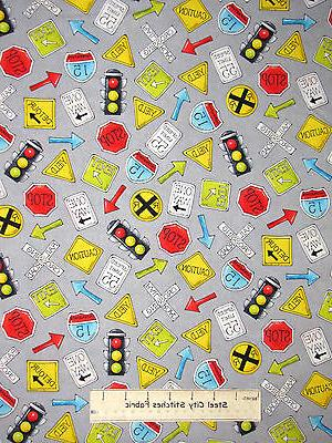 road traffic signal sign toss gray cotton