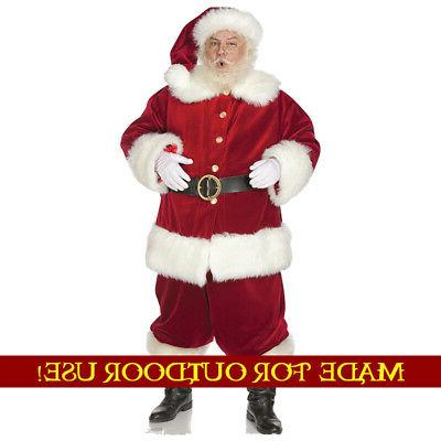 SANTA CLAUS Plastic Outdoor YARD SIGN Lifesize Christmas Sta