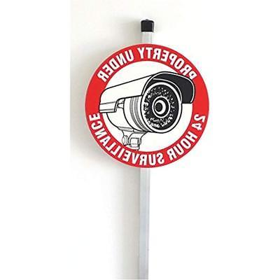 security sign aluminum stake