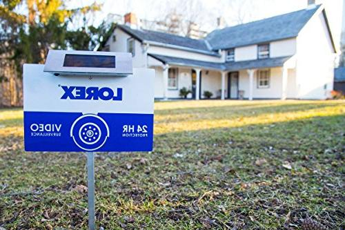 Lorex Outdoor Security Sign with Solar