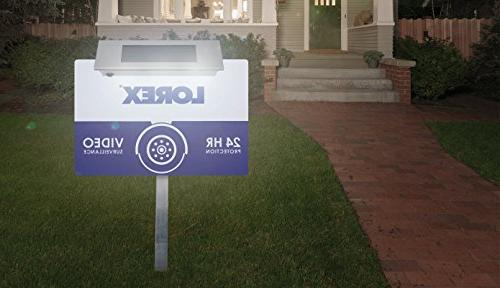 Lorex Security Sign with Bright Solar
