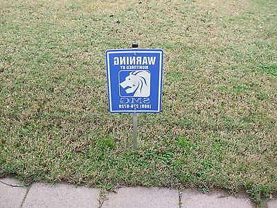 security yard sign with 6 window stickers