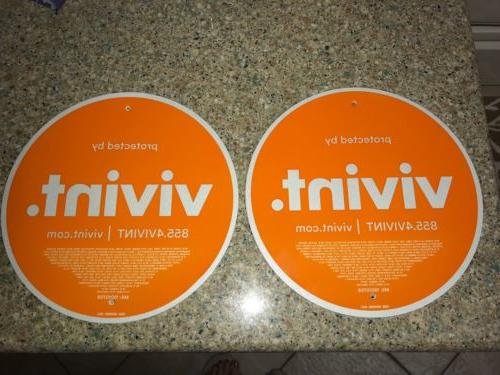 set 2 vivint bright bold reflective security