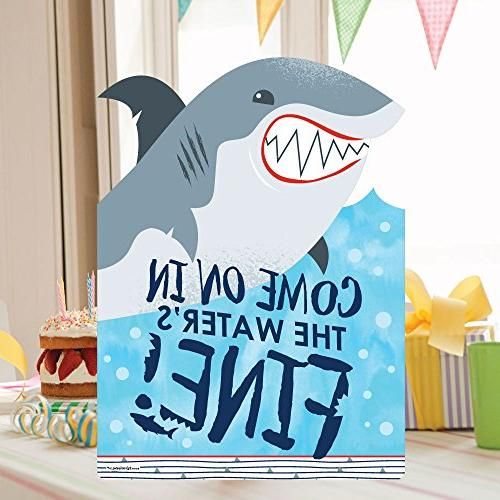 Big Dot of Happiness Shark Zone - Party Decorations Welcome Yard