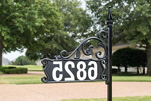 Address Double Front Sign Lawn Sign