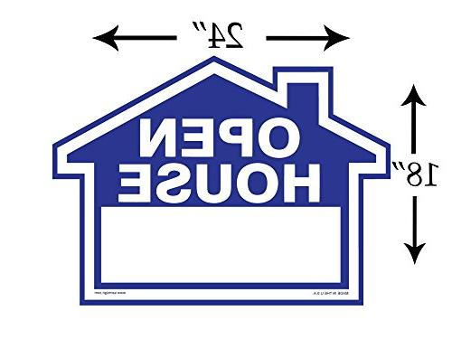"3-Pack Kit - Signs H-Stakes - Blue Property Signs 18"" X X 18"" House Shaped - – Signs – Tearproof"