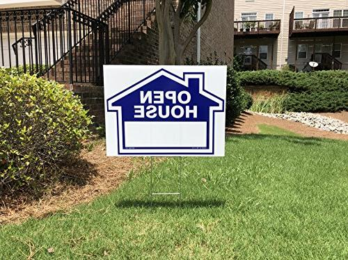 Blue Superior & Home For 8 Sign Frame & H-Stakes Customized Sign for Interchangeable - Directional Arrows Double Sided Lawn