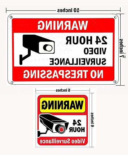 WISLIFE Set, Warning Signs Stickers,