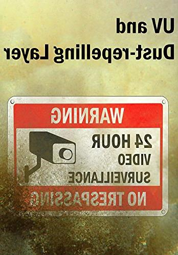 WISLIFE Video Surveillance Sign Set, 2 Signs & Stickers,