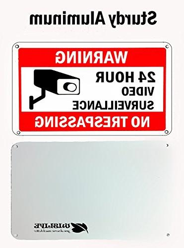 WISLIFE Sign Set, 2 Signs & Stickers, Security Signs