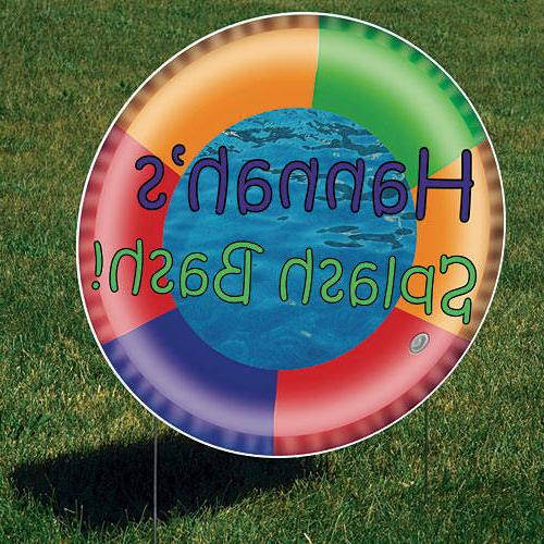 swim ring yard sign to your pool