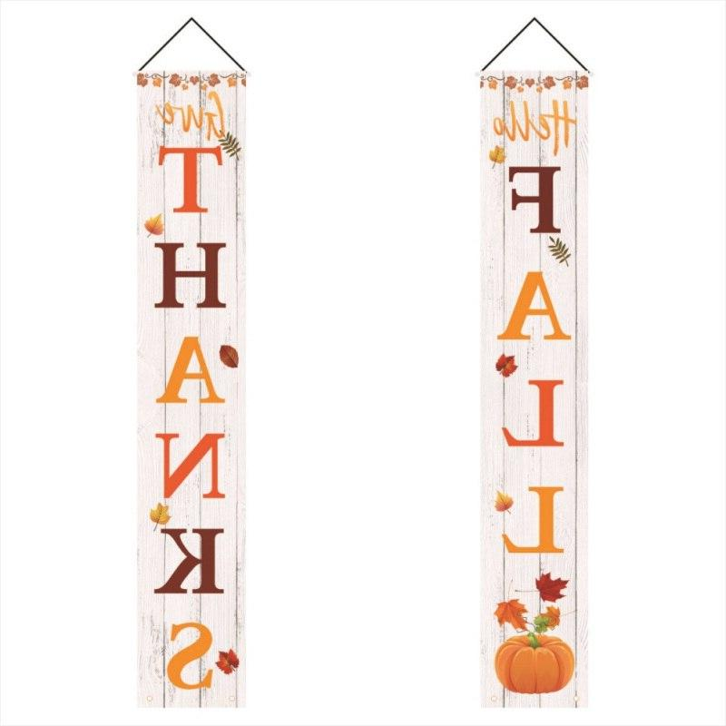 Door Hanging Banner FlagThanksgiving Porch <font><b>Sign</b>