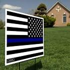Thin Blue Line USA Flag - Pro-Police Flag - Yard Sign / Lawn