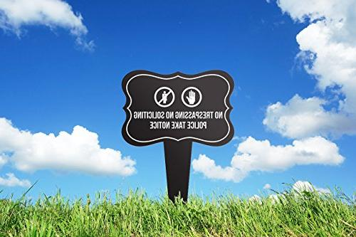 iCandy Combat Notice Home Yard Lawn Sign, Black, 12x16