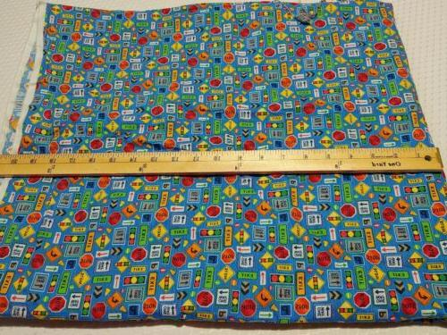 Truck Stop One Stop Cotton Fabriquilt 7/8 Yards