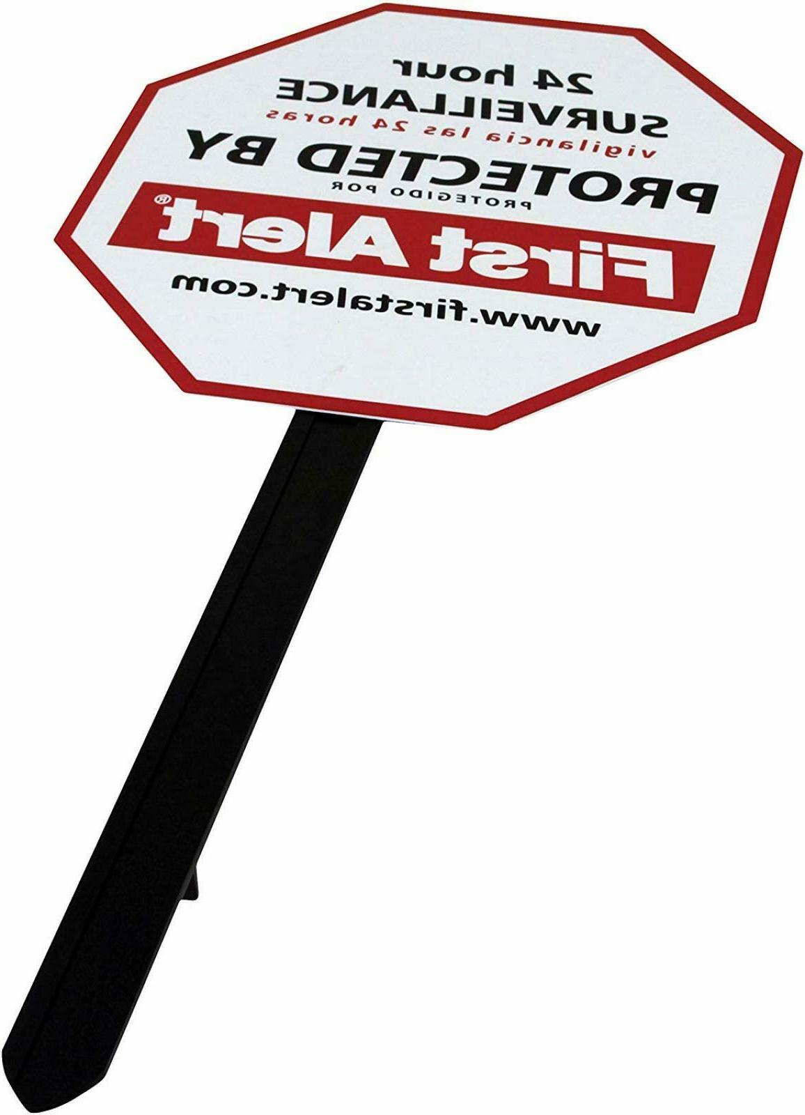 Video Security Surveillance Yard Sign  Free Shipping