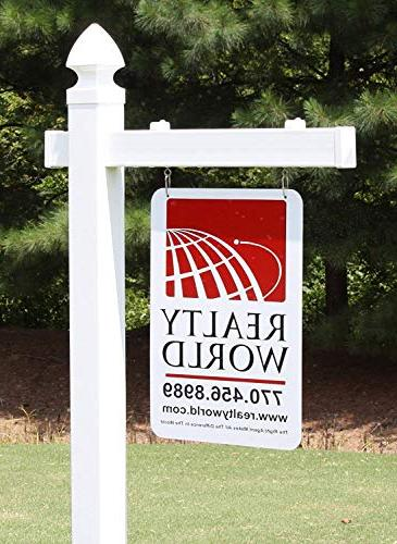 4EVER PVC Real Estate Sign White