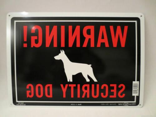 warning security dog aluminum