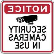 STOP Signs And More Warning Security Cameras In Use Sign - 3