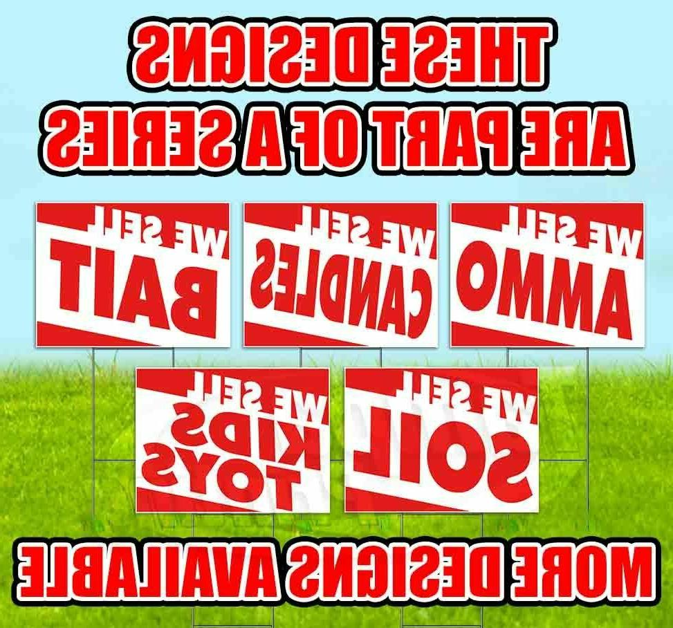 WE Sign Lawn Decoration USA