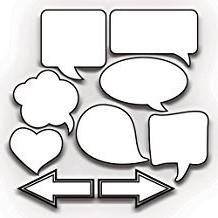Wedding Speech Bubbles Photo Booth Props Set of 9- Corrugate
